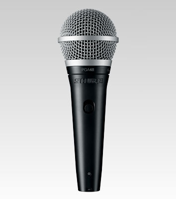 Shure PGA48 with XLR-QTR Cable